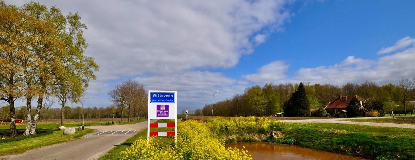 Witteveen grens van het dorp